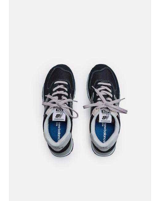 ddaf4919e1f0c ... New Balance - Black 574 Classic Suede Mesh Sneaker for Men - Lyst ...