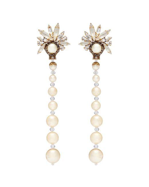 Erickson Beamon - Metallic 'sincerely Yours' Swarovski Crystal Faux Pearl Drop Earrings - Lyst