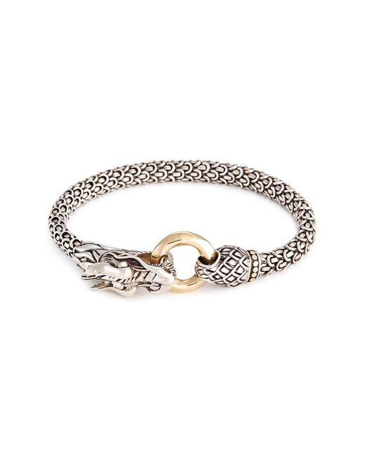 John Hardy - Metallic 18k Yellow Gold Silver Scaly Dragon Bracelet - Lyst