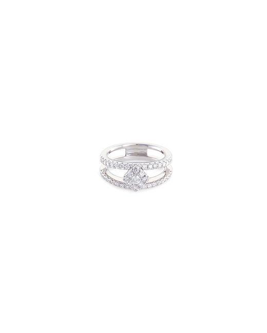 LC COLLECTION - Metallic 'art Deco' Diamond 18k White Gold Ring - Lyst