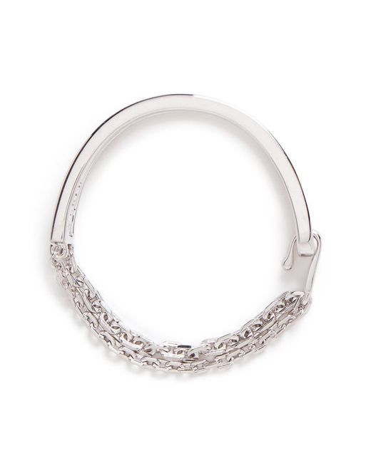 W. Britt | Metallic 'thin And Thick Link Lock' Cut-out Bar Bracelet | Lyst
