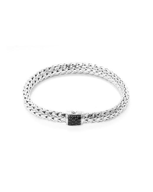 John Hardy - Metallic Sapphire Silver Woven Chain Bracelet for Men - Lyst