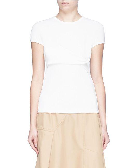 Christopher Esber - White Twist Panel T-shirt - Lyst