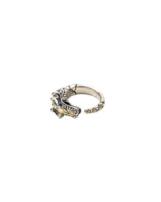 John Hardy - Metallic Sapphire 18k Yellow Gold And Silver Naga Ring - Lyst