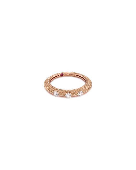 Roberto Coin - Metallic 'new Barocco' Diamond 18k Rose Gold Beaded Ring - Lyst