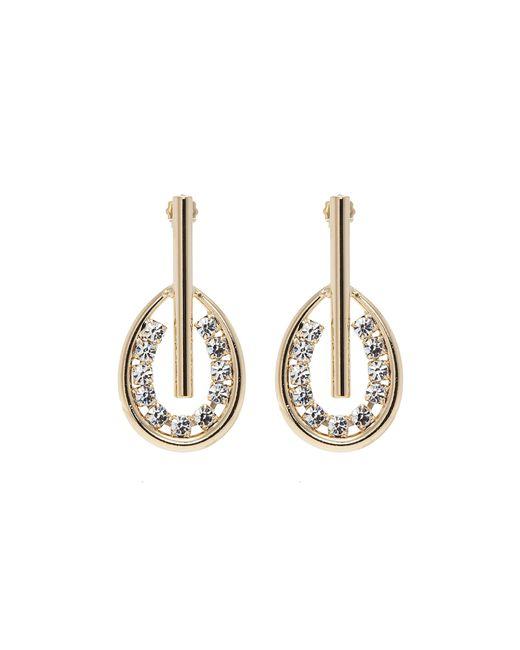 Anton Heunis - Metallic Swarovski Crystal Bar Hoop Drop Earrings - Lyst