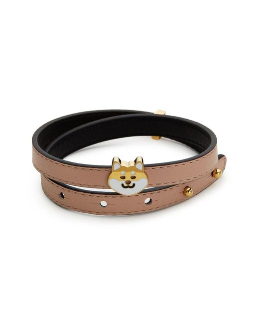 Ruifier - Multicolor 'teddy' 18k Yellow Gold Plated Dog Charm Leather Bracelet - Lyst