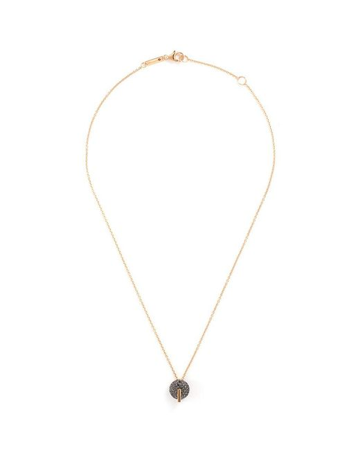 Roberto Coin - Metallic ''colored Treasures' Diamond 18k Rose And Black Gold Pendant Necklace - Lyst