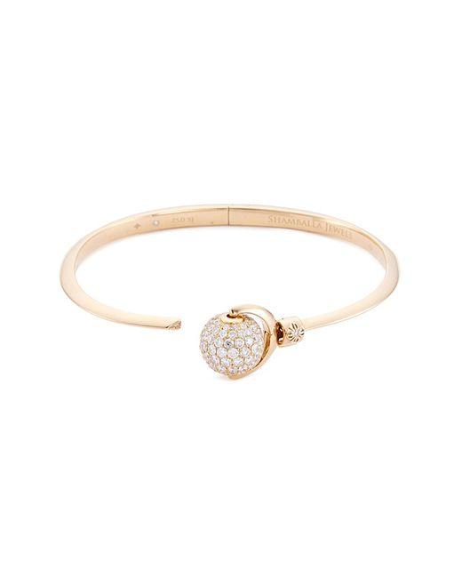 Shamballa Jewels - Metallic 'nyima Mini 34' Diamond 18k Gold Bangle - Lyst