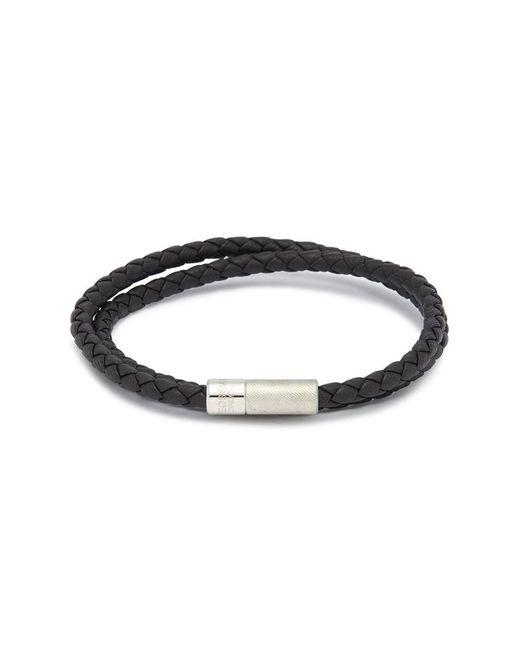 Tateossian - Brown 'pop Rigato' Double Wrap Braided Leather Bracelet for Men - Lyst