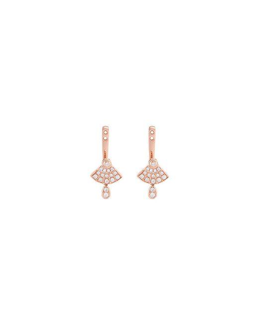 LC COLLECTION - Metallic 'art Deco' Diamond 18k Rose Gold Earring Jackets - Lyst