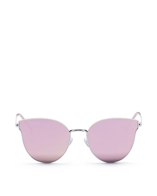 Stephane + Christian | Pink 'andante' Metal Cat Eye Mirror Sunglasses | Lyst