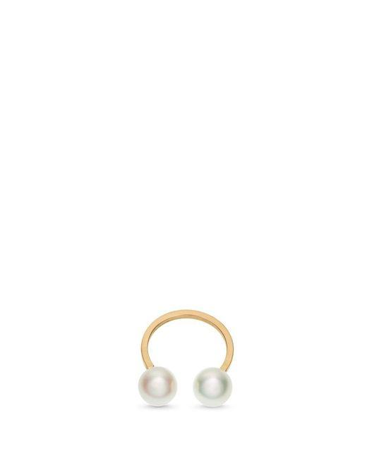 Sophie Bille Brahe - Metallic 'emma Deux' Akoya Pearl 14k Gold Single Ear Cuff - Lyst