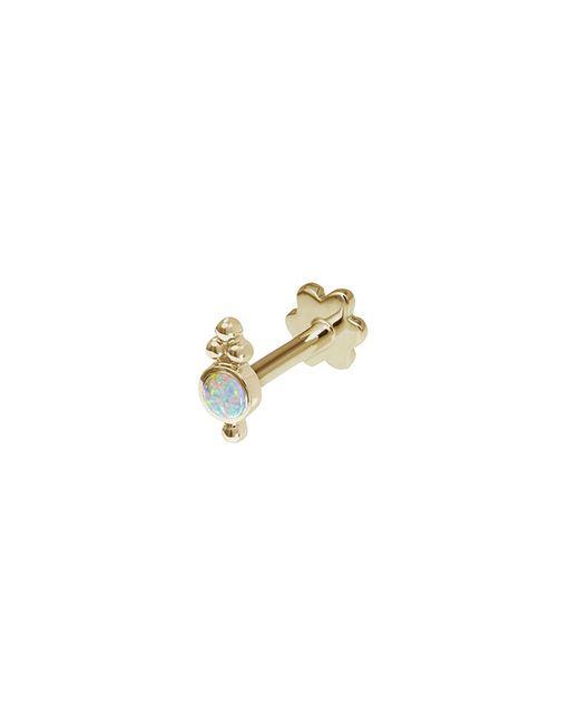 Maria Tash - Metallic 'four Ball Trinity' 14k Yellow Gold Single Threaded Stud Earring - Lyst