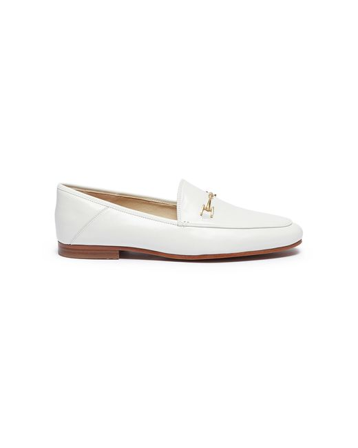 Sam Edelman - White 'loraine' Horsebit Leather Step-in Loafers - Lyst