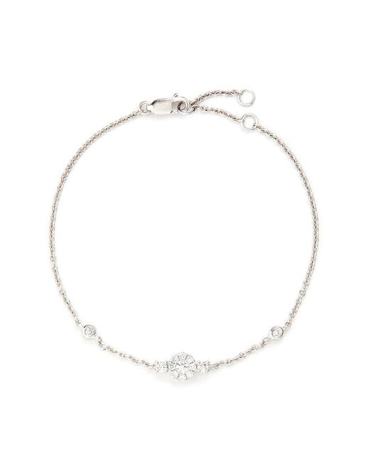 LC COLLECTION - Metallic 'lucky Charm' Diamond Pavé 18k White Gold Bracelet - Lyst