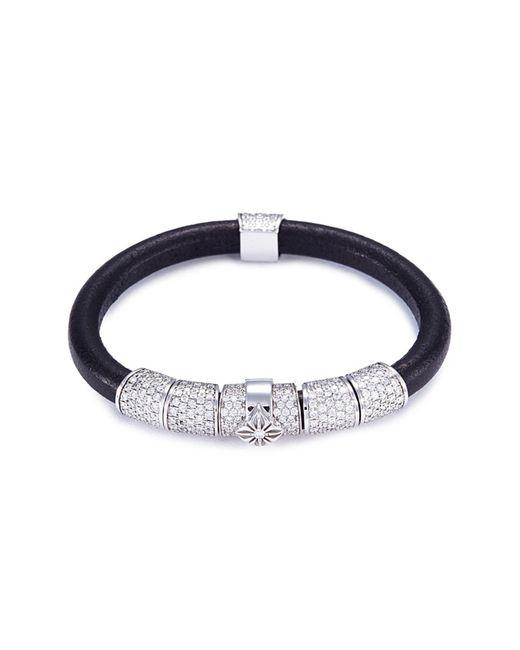 Shamballa Jewels - Metallic 'korne Pavé' Diamond 18k Gold Leather Bracelet - Lyst