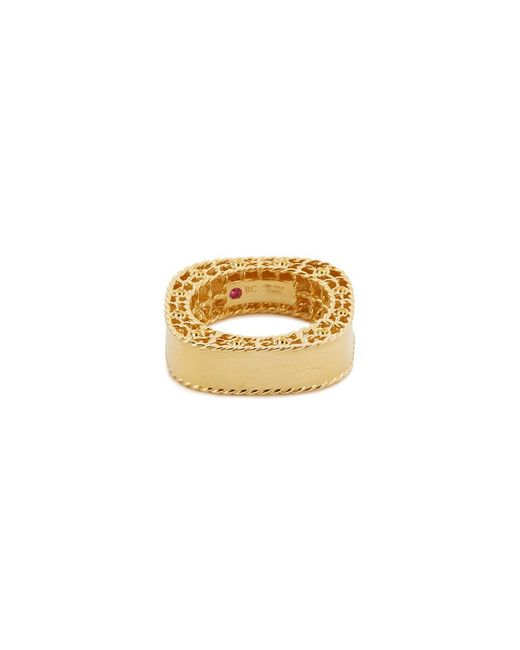Roberto Coin - Metallic 'princess' 18k Yellow Gold Ring - Lyst