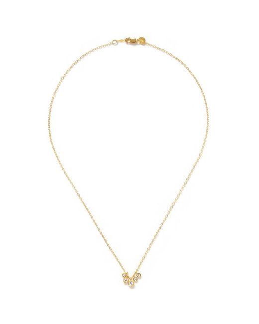 Ila & I - Metallic 'Myra' Diamond Necklace - Lyst