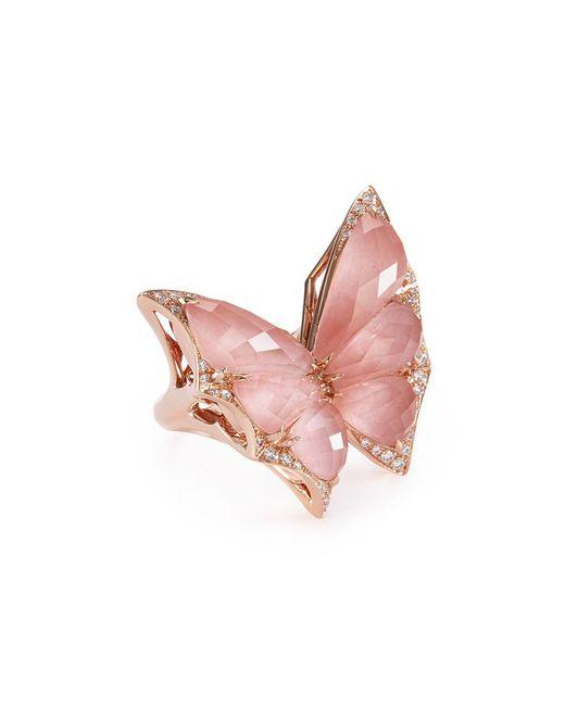 Stephen Webster - Metallic 'crystal Haze' Diamond Crystal 18k Rose Gold Ring - Lyst