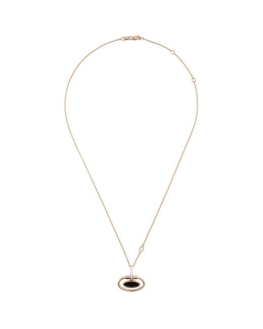 Roberto Coin - Metallic 'classique Parisienne' Diamond Jade 18k Rose Gold Oval Pendant Necklace - Lyst
