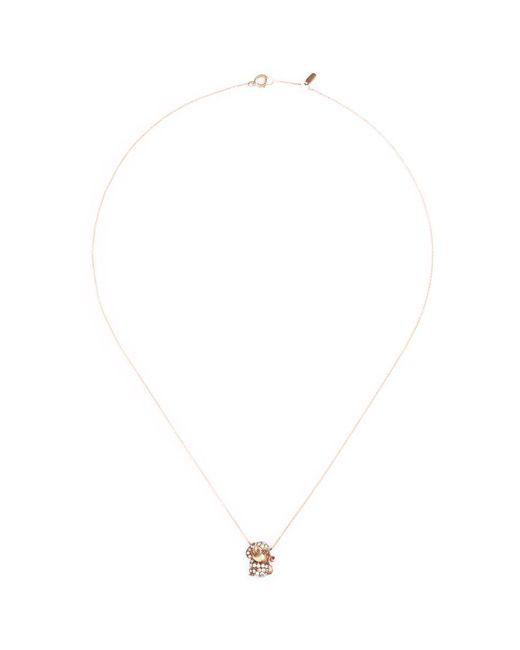 Bao Bao Wan - Metallic 'and The Little Ones...' Monkey Diamond 18k Rose Gold Pendant Necklace - Lyst