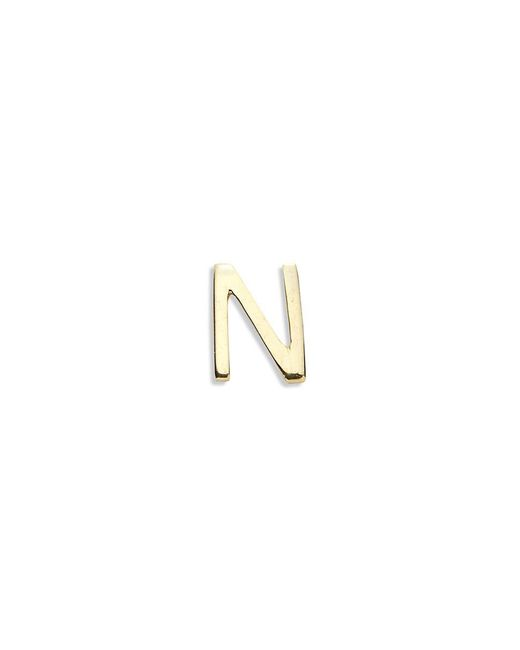 Loquet London - Metallic 18k Yellow Gold Letter Charm - N - Lyst