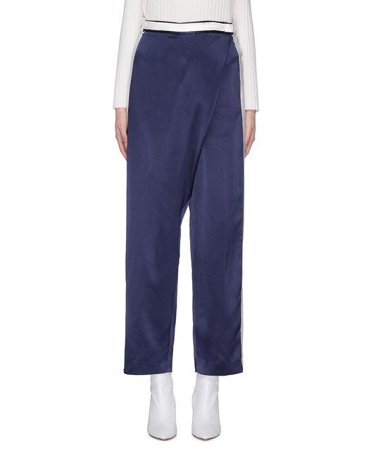 Dion Lee - Blue Stripe Outseam Silk Satin Wrap Pants - Lyst