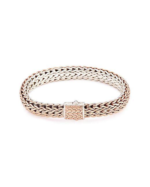 John Hardy - Metallic Silver Bronze Reversible Woven Chain Bracelet - Lyst
