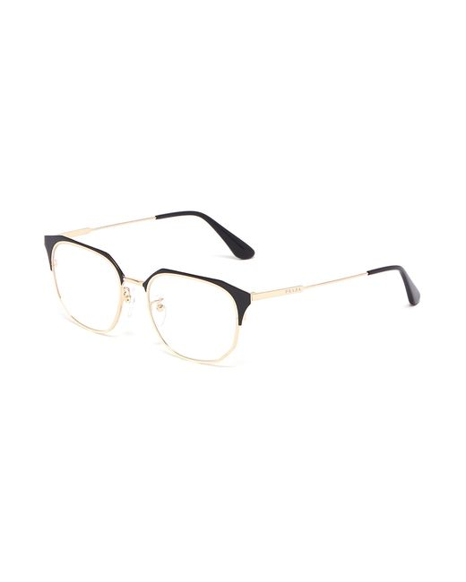 447238a0b92 Prada - Metallic Acetate Browline Titanium Angular Optical Glasses - Lyst  ...