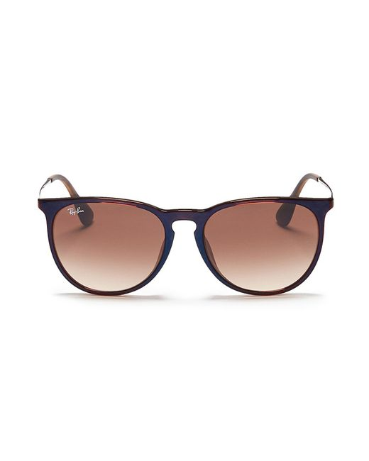 Ray-Ban - Brown 'erika' Nylon Front Metal Temple Sunglasses - Lyst