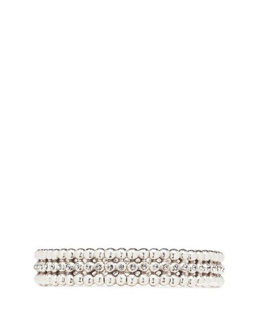Philippe Audibert | Metallic 'meryl' Swarovski Crystal Bead Elastic Bracelet | Lyst