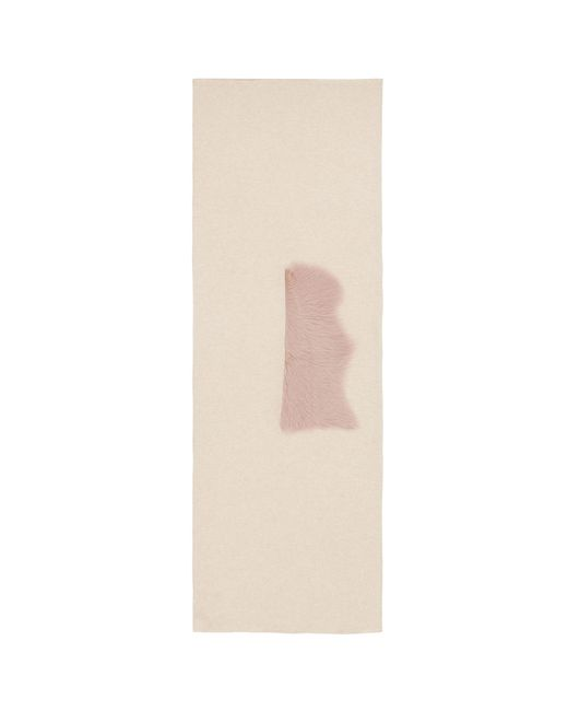Karl Donoghue - Multicolor Lambskin Shearling Trim Cashmere Scarf - Lyst