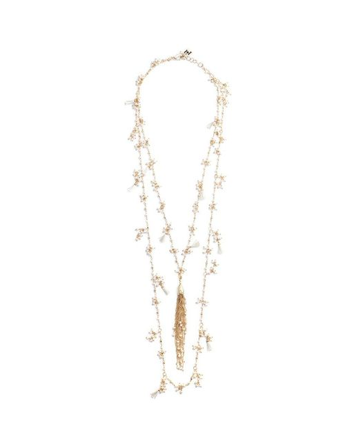 Rosantica - Metallic 'allegria' Faux Pearl Tassel Tiered Necklace - Lyst