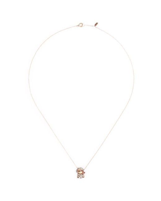 Bao Bao Wan - Metallic 'and The Little Ones...' Monkey Diamond 18k Rose Gold Pendant Necklace - Lyst