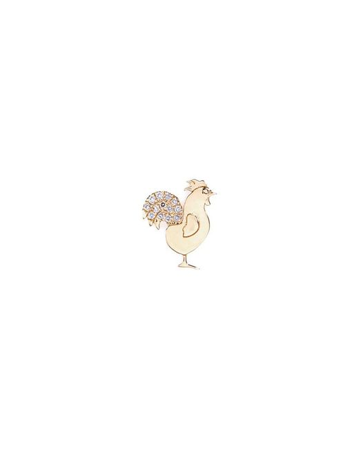 Loquet London - Metallic 18k Yellow Gold Diamond Chinese New Year Charm - Rooster - Lyst
