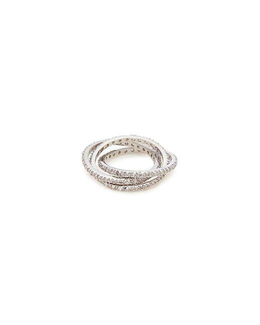 CZ by Kenneth Jay Lane - Metallic Cubic Zirconia Interlocking Ring - Lyst