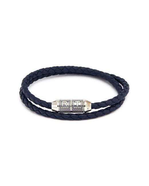 Tateossian - Blue 'lucky Me' Double Wrap Thin Leather Bracelet for Men - Lyst