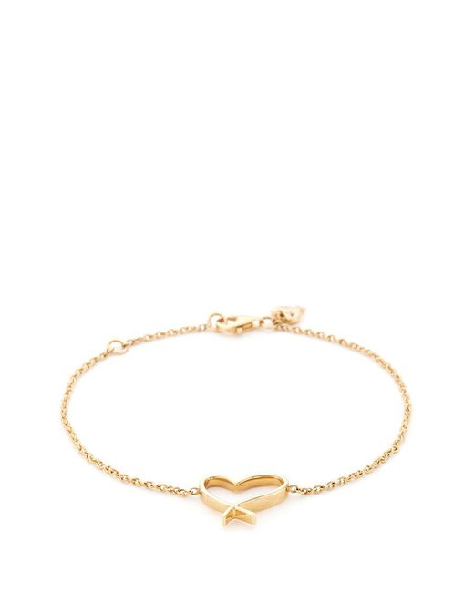 Stephen Webster - Metallic 'neon Heart' 18k Yellow Gold Charm Bracelet - Lyst