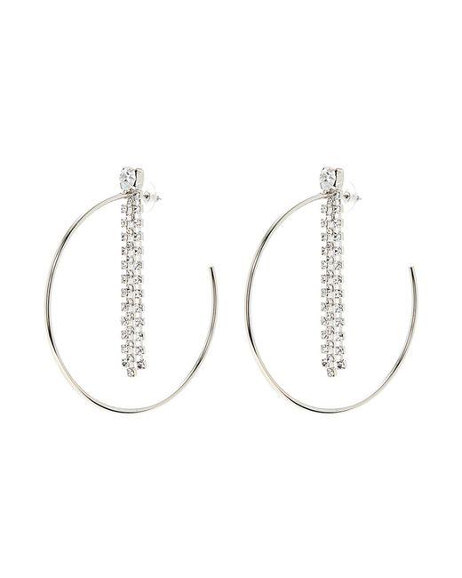 Joomi Lim - Metallic 'mad Maximalism' Swarovski Crystal Fringe Large Hoop Earrings - Lyst