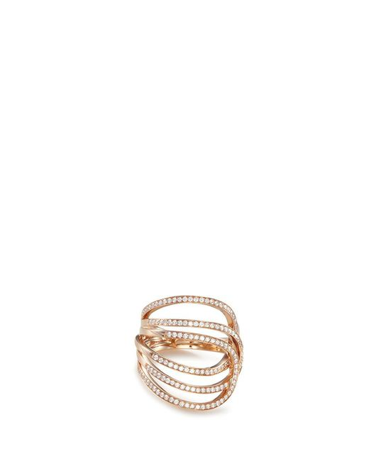 Repossi | Metallic 'la Ligne C' Diamond 18k Rose Gold Ring | Lyst