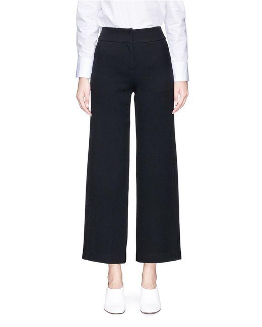 Helen Lee | Black Side Slit Wool Culottes | Lyst
