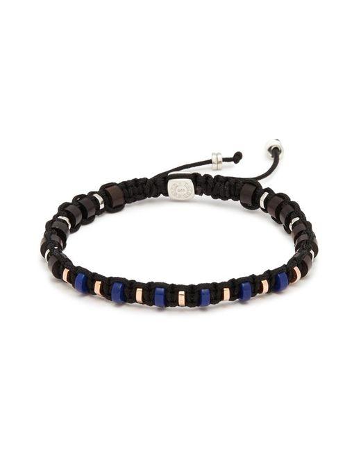 Tateossian - Black Lapis Lazuli Disc Bead Macramé Braided Bracelet for Men - Lyst