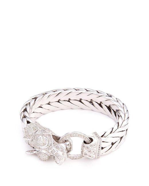 John Hardy | Metallic Sapphire Silver Naga Weave Effect Chain Bracelet | Lyst
