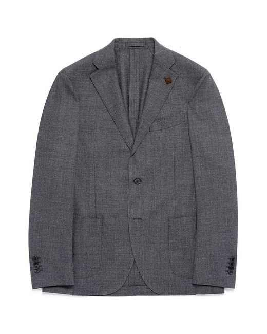 Lardini | Gray Wool Birdseye Soft Blazer for Men | Lyst