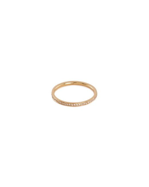 LC COLLECTION - Metallic Diamond 18k Yellow Gold Eternity Ring - Lyst