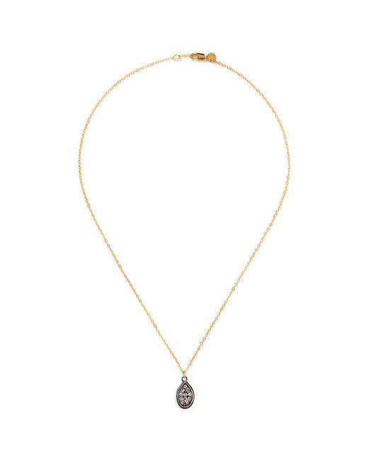 Ila & I - Metallic 'Sylvia' Diamond Locket Necklace - Lyst