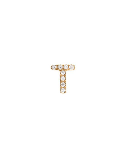 Loquet London | Metallic Diamond 18k Yellow Gold Letter Charm – T | Lyst