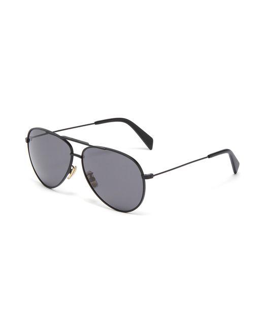 fef7c279434 Céline - Gray Metal Aviator Sunglasses for Men - Lyst ...