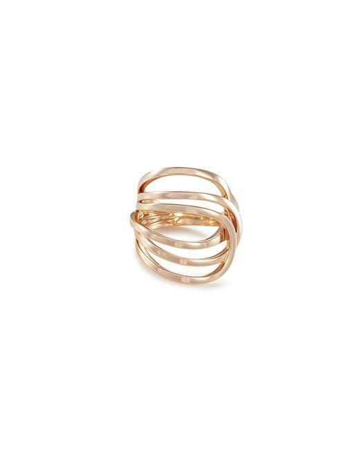 Repossi - Metallic 'la Ligne C' Diamond 18k Rose Gold Ring - Lyst